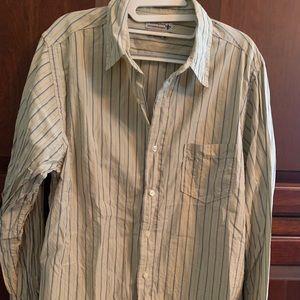 Men's long sleeved Lucky brand button down shirt